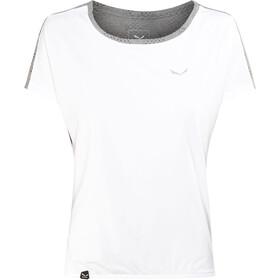 SALEWA Puez Hybrid Dry Camiseta Manga Corta Mujer, white/0538